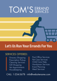 Errand Services Flyer A4 template