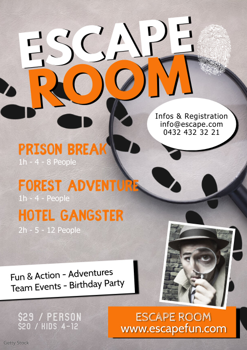Escape Room Adventure Action Fun Offer Ad