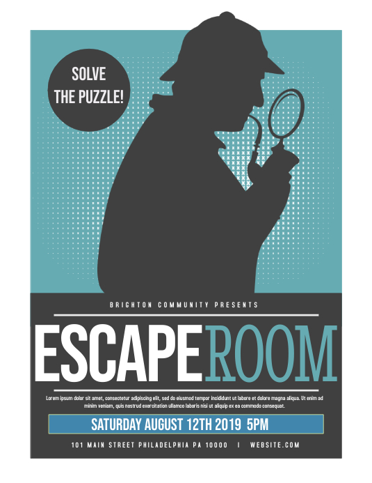 Room Design Layout Templates: Escape Room Template