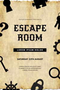 Escape Room Event Flyer Template Plakkaat