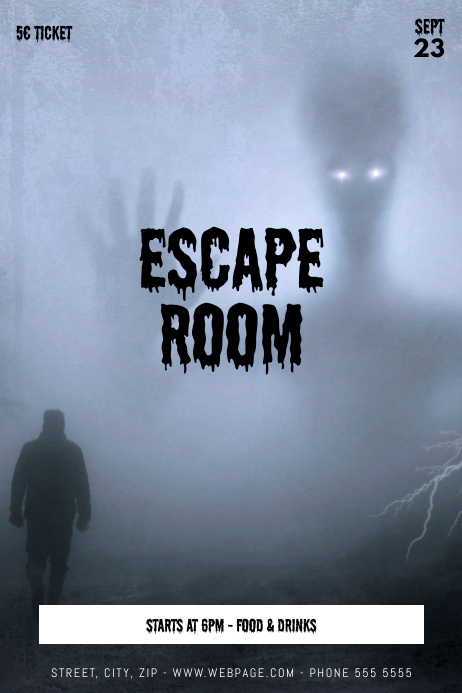 Escape Room Flyer Event Template