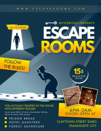 Escape Room Game Party Invitation Flyer