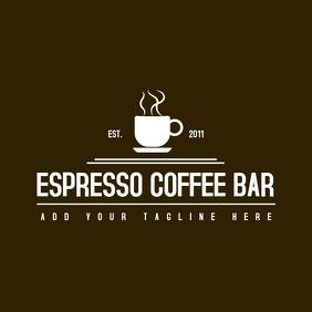 Espresso coffee bar logo design template