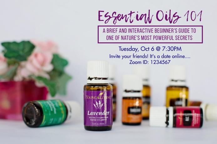 Essential Oils 101 Digital Display (16:9) template