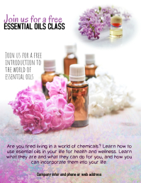 Essential Oils Class Flyer