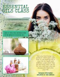 Essential Oils Class Flyer Template