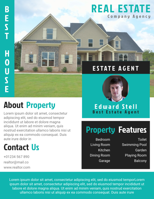 Estate Agent Flyer Templates Design Fully Editable
