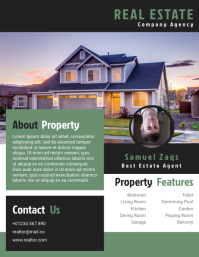 Estate Agent Flyer Templates Design Fully Editable Løbeseddel (US Letter)