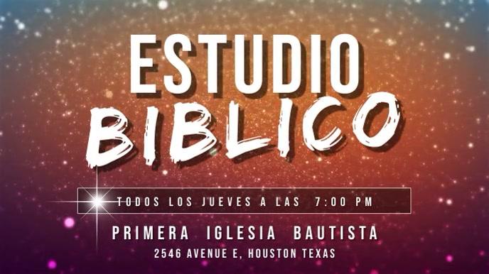 estudio biblico español Pantalla Digital (16:9) template
