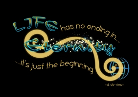 Eternity Life Quote Art Design A6 template