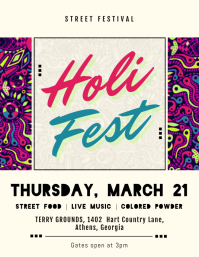 Ethnic Holi Festival Flyer Template