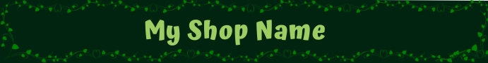 etsy banner PARTY SHOP template