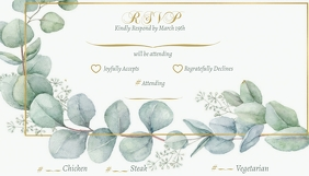 Eucalyptus Wedding RSVP Card Visitkort template