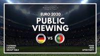 Euro 2020 Public Viewing Invitation Event Ad