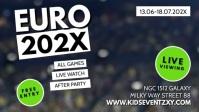 Euro 2020 Public Viewing Invitation Event Ad