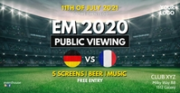Euro Cup Soccer Football Public Viewing Ad Facebook Event Cover template