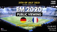 Euro Cup Soccer Football Public Viewing Ad