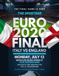 EURO2020 Final Game Flyer template