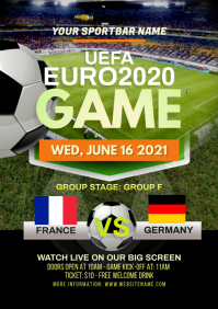 Euro2020 Game Flyer A4 template