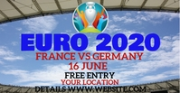 euro2020 soccor cup Facebook Event Cover template