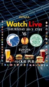 Europa League Match Instagram Digitale Vertoning (9:16) template