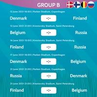 European Championship 2020 Group B Instagram