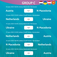 European Championship 2020 Group C Instagram