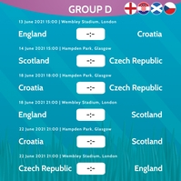 European Championship 2020 Group D Instagram
