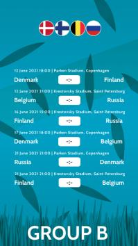 European Football Championship 2020 Story B template
