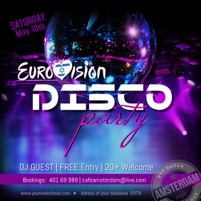 Eurovision Disco Party Tel Aviv 2019 Themed Party Instagram