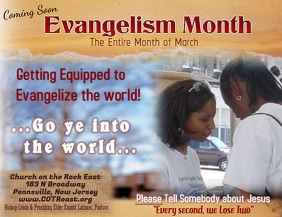 Evangelizing Witnessing Flyer