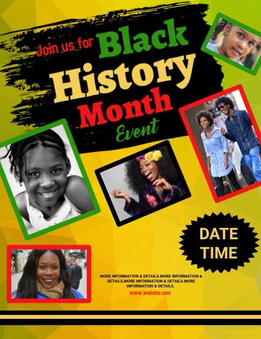 event, black history month Løbeseddel (US Letter) template
