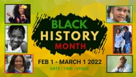 event, black history month Blog overskrift template