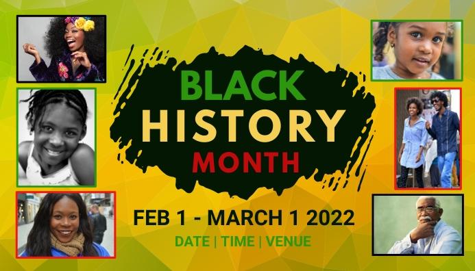 event, black history month Blog Header template