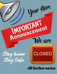 event, corona,announcement Flyer (US Letter) template