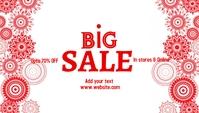 event, sale, winter,retail Cabeçalho de blogue template
