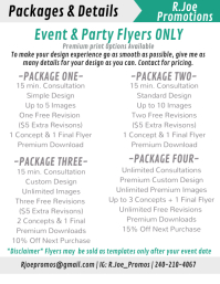 Event & Party Flyer services