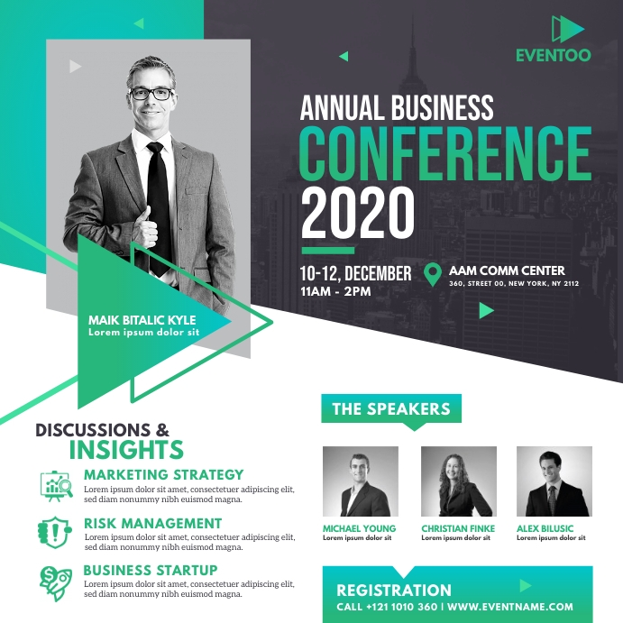 Event | Conference Ad Template Instagram Post