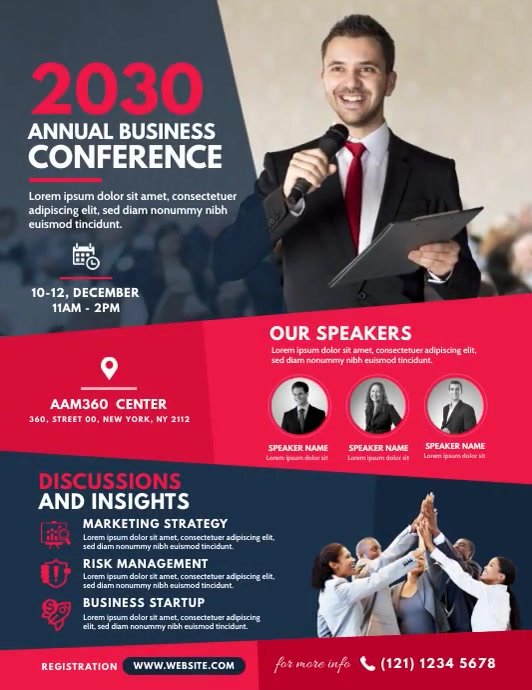 Event   Summit   Conference Flyer (US Letter) template