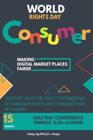 Event poster template,Campaign poster, consumer rights day