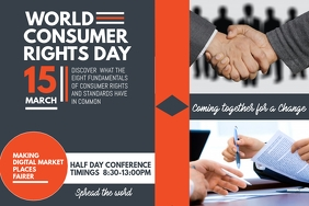 Event poster template,Campaign poster,World consumer day