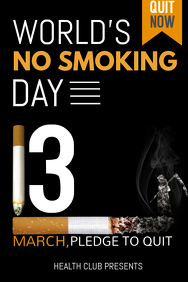 event poster template,No smoking poster templates