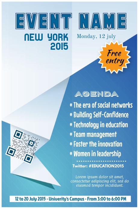 Event and workshop agenda template – Professional design