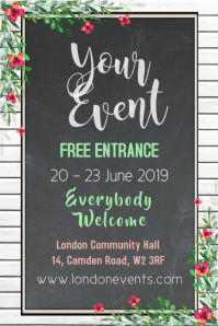 Event Blackboard Poster Template