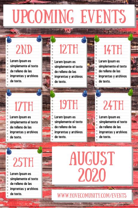 Event Calendar Schedule Poster Template