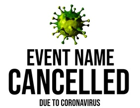 Event Cancellation Flyer template