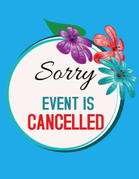 Event Cancellation Flyer