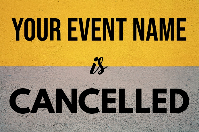 Event Cancellation Poster Template โปสเตอร์