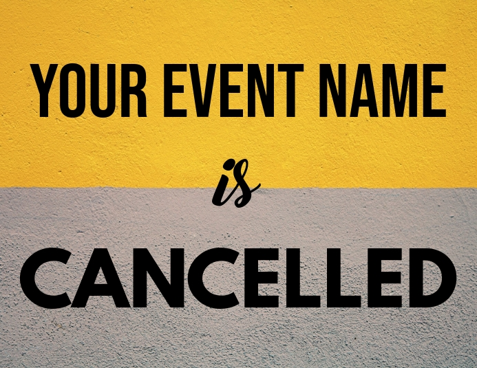 Event Cancellation Template ใบปลิว (US Letter)