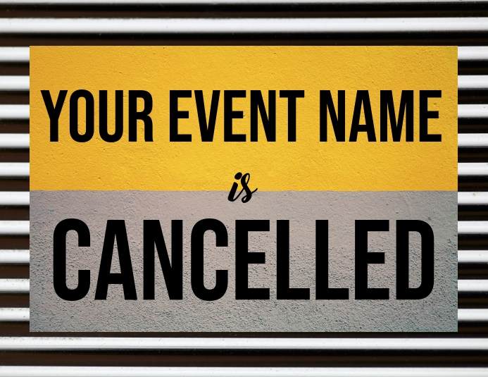 Event Cancelled Template ใบปลิว (US Letter)